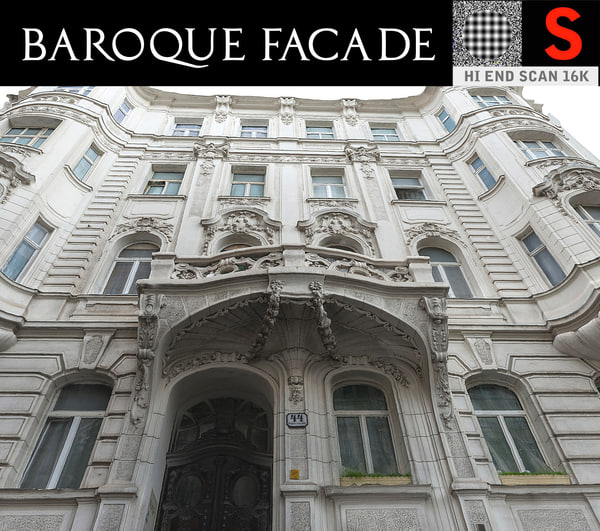 3D baroque facade model