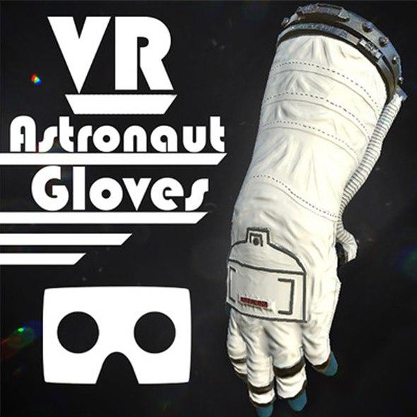 vr hands astronaut 3D model