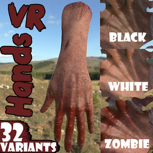32 rigged hand vr 3D model