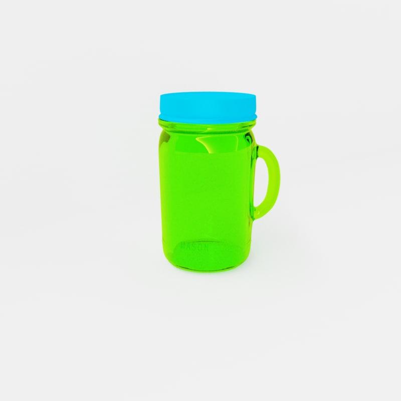 mason jar cup 3D model