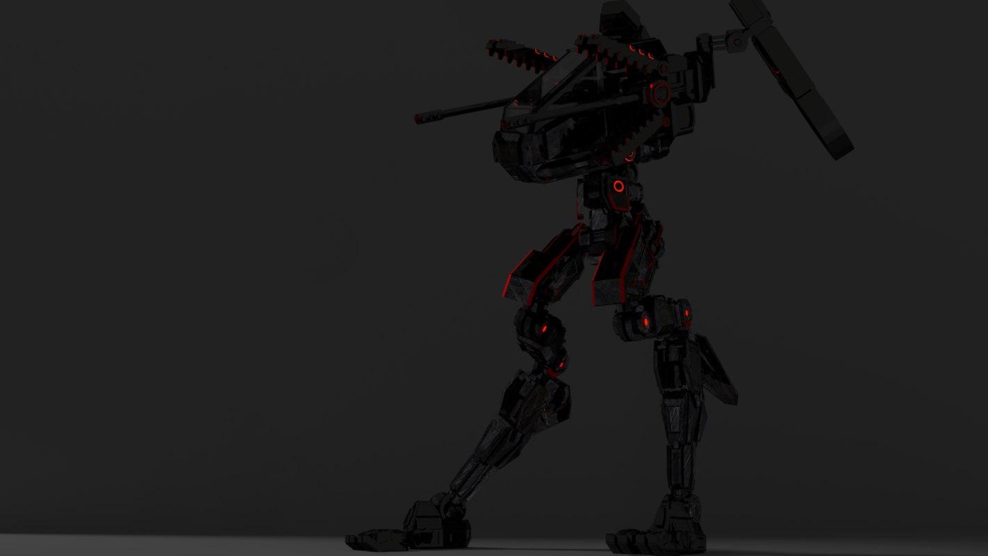 3D model robot future