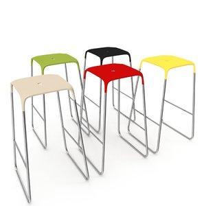 stool bob infinity chair 3D model