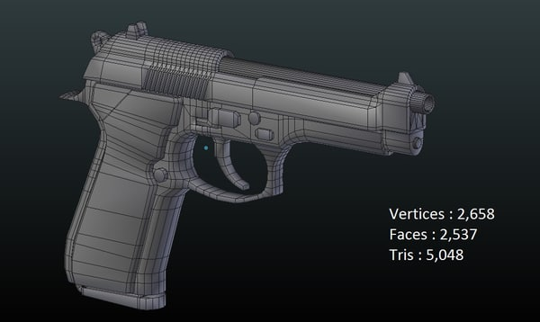 3D m9 pistol model