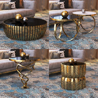 3D luxury contemporary tables model