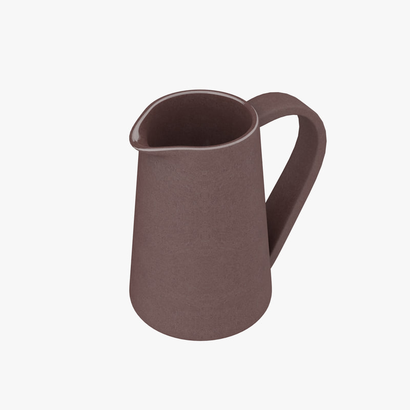 country pitcher terracotta housewares 3D model