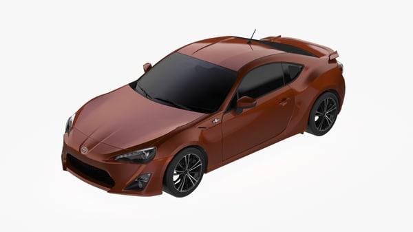 3D 2012 toyota gt86 model