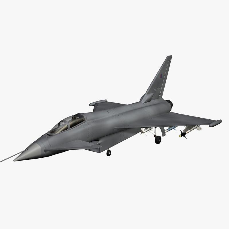 eurofighter fighter 3D model