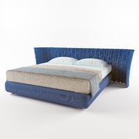3D silent bed paola lenti