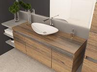 modern bathroom 3D model