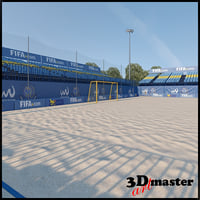 football soccer arena 3D model