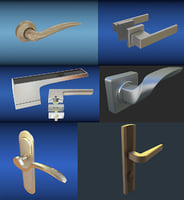 handles doors 3D