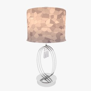 3D urban designed table lamp model