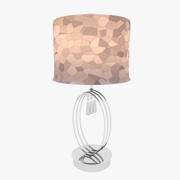 3D urban designed table lamp model