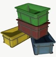 plastic crate 3D model
