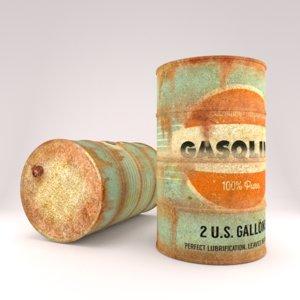 rusty oil barrel 3D model