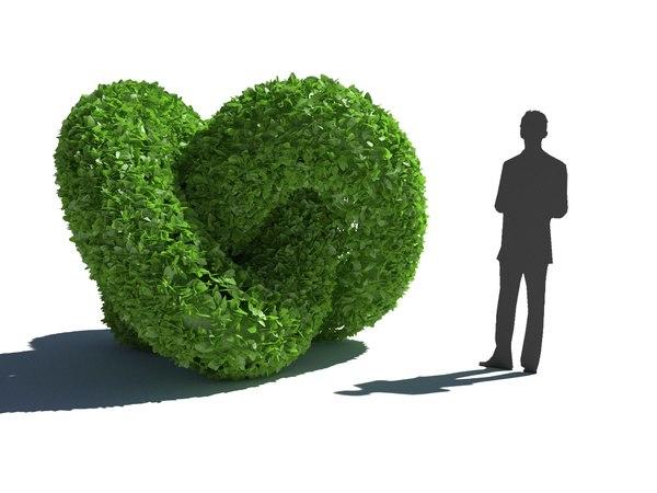 3D bush hedge