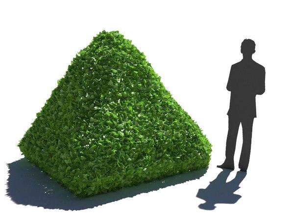 3D model bush hedge