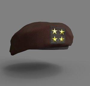 beret 3D model