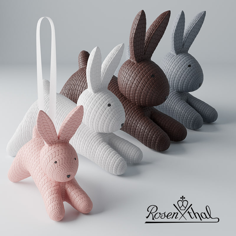 3D rabbits corona v-ray