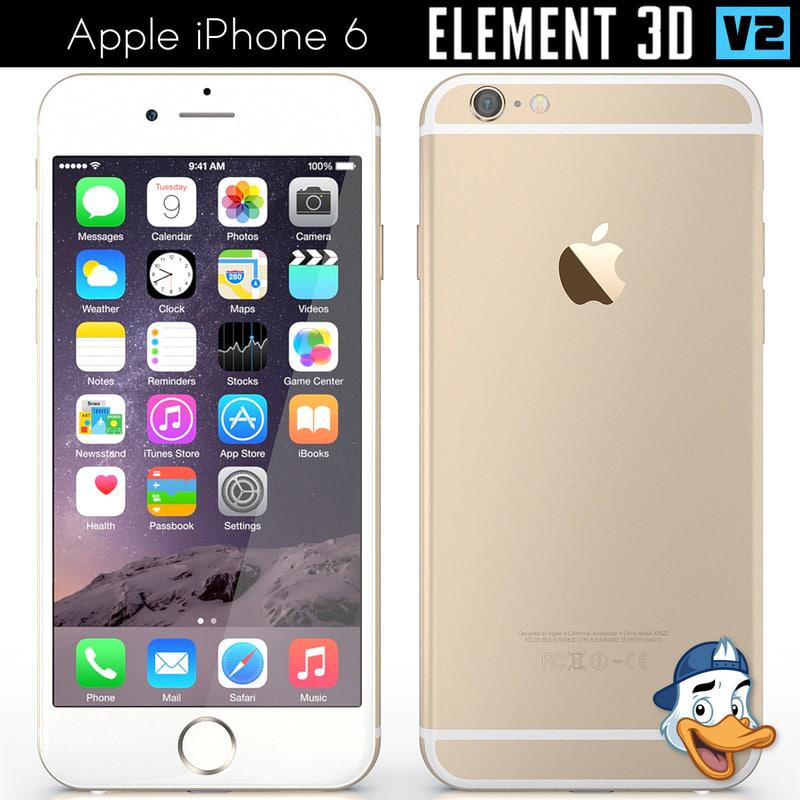 apple iphone 6 element 3D