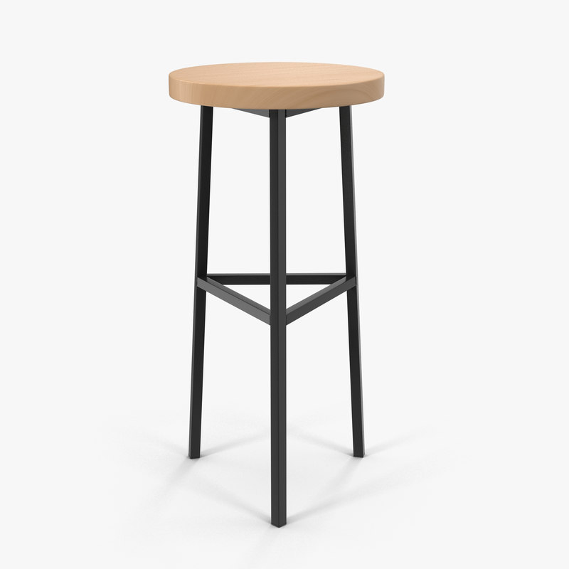 3D model cafe stool