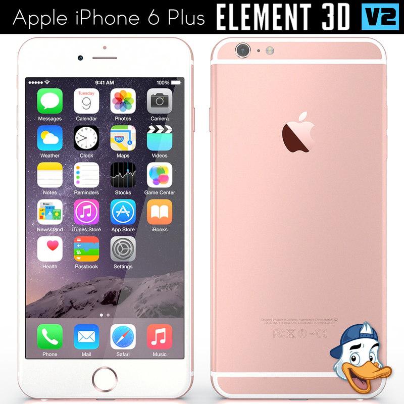 3D model apple iphone 6 element