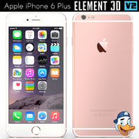 3D model apple iphone 6 element