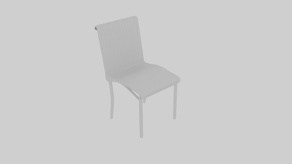 3D chair regina white
