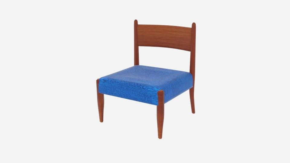 slipper chairs danish modern 3D