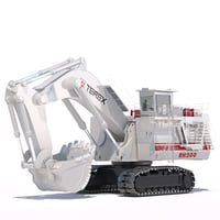 mining excavator rh200 backhoe 3D model