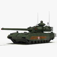 3D t-100 object-189 tank model
