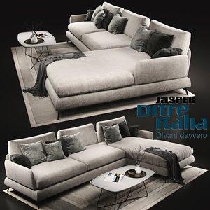 sofa ditre italia jasper 3D model