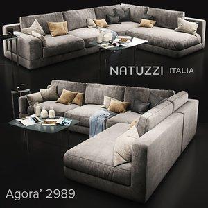 3D sofa natuzzi agora2989