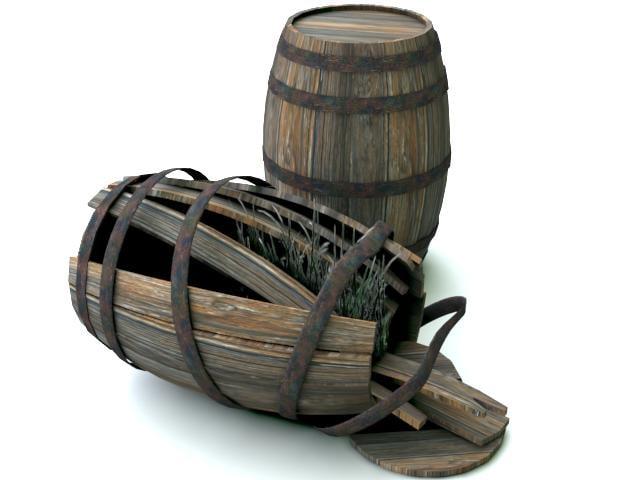 barrel broken 3D