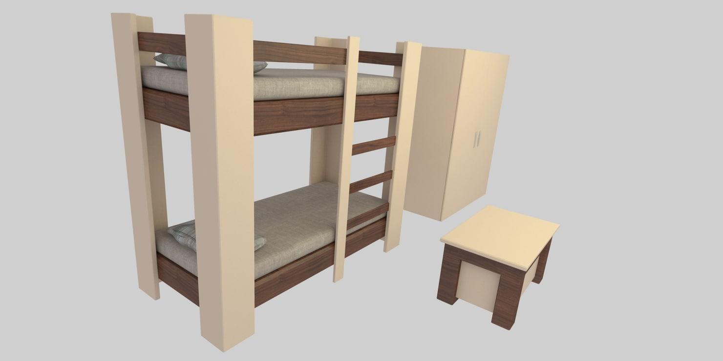 3D teen bunk bed