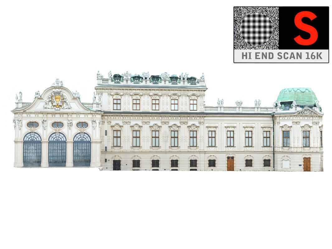 palace baroque facade 3D model