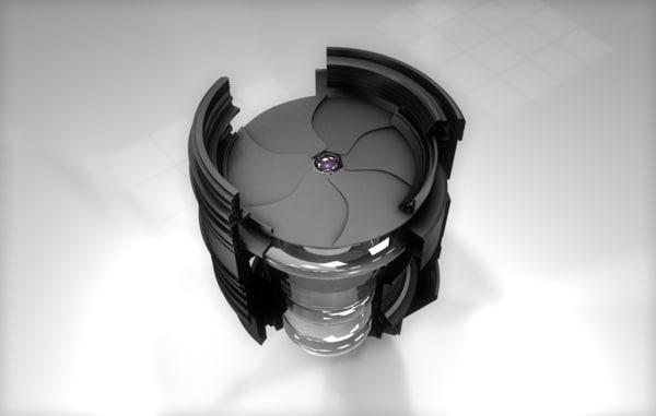 lens animation 3D
