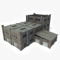 industrial building factory 3D model
