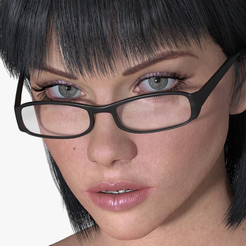 3D woman melissa hair