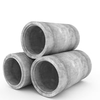 concrete pipe 3D