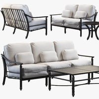castelle coco isle sofas 3D model