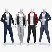 3D male sport suit