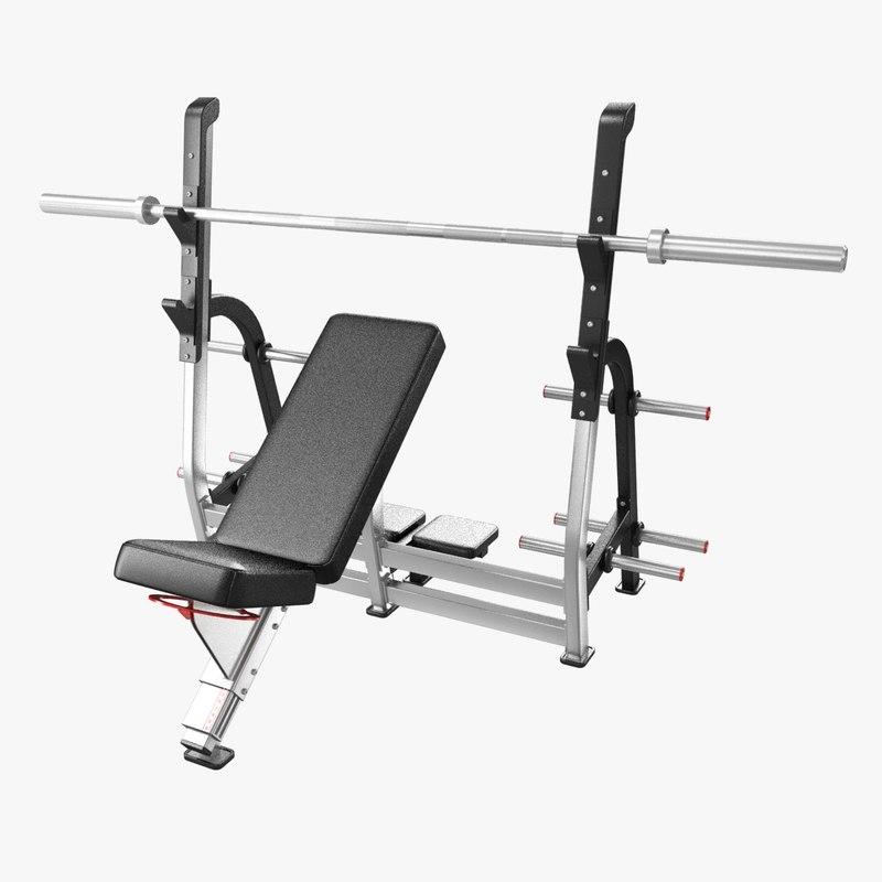 3D incline bench press nautilus model
