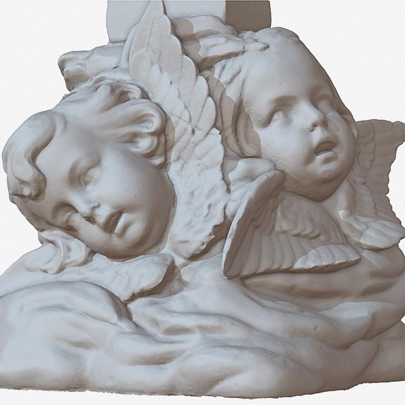 sculpture angel faces 1m 3d turbosquid 1187970