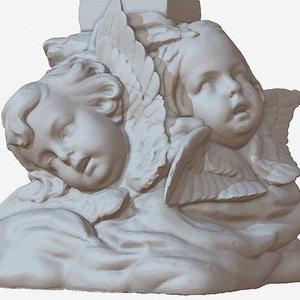 sculpture angel faces 1m 3D