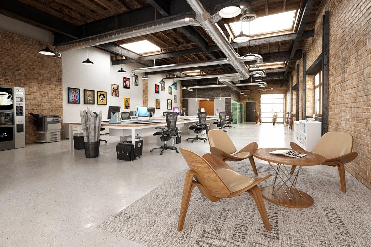 scene office 3D