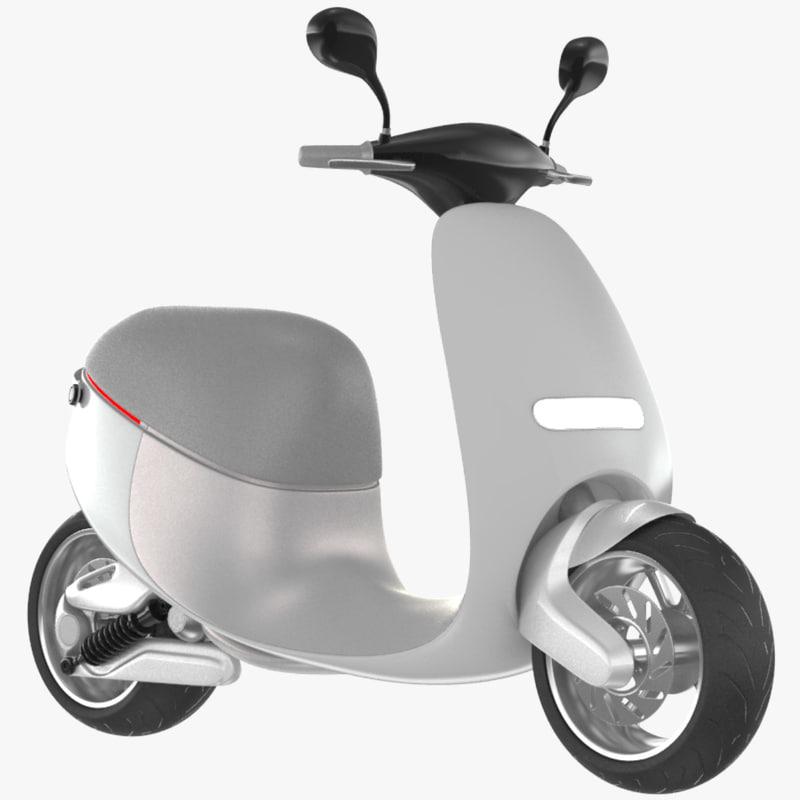 3D smart scooter gogoro model
