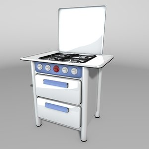 vintage stove 3D model