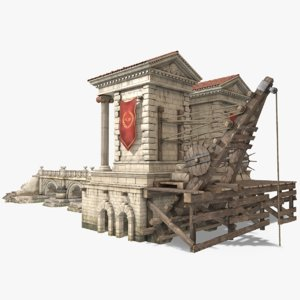 port ancient rome 3D model