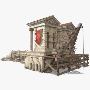 port ancient rome 3D model